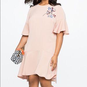 Eloquii Mystic Pink Appliqué Dress Sz 18